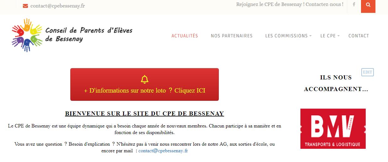 Site internet CPE BESSENAY